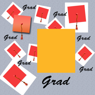 'graduation','photo','frame','achievement','assorted','board','cap','ceremony','class','costume','display','gold','hat','head','mortar','page','red','school','scrapbook','tassel'