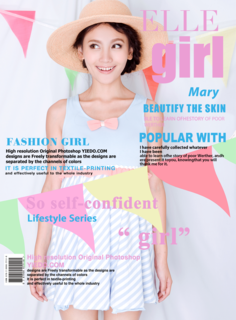 'magazine','cover','girl','elle','pink','fashion'