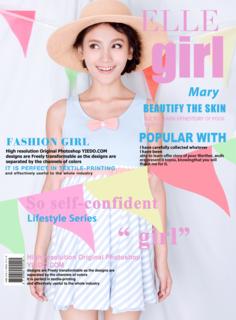 'magazine','cover','girl','elle','pink','fashion'