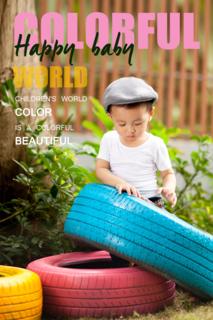 'colorful','cover','magazine','children','kid','blank'